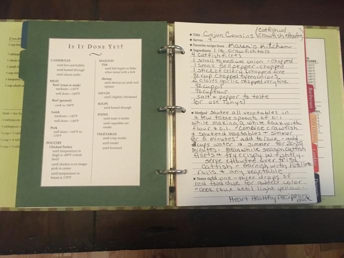 Mom's own cookbook